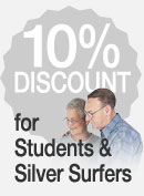 discount for silver surfers and students